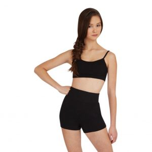 Black Capezio Adult High Waisted Short