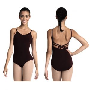Black Capezio Adult V Neck Camisole Leotard