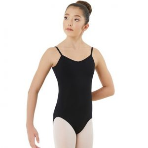 Black Capezio Child V Neck Camisole Leotard